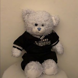 Build a bear dressed in an Oakland Raider uniform